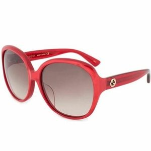Gucci Oversized Sunglasses W/Brown Gradient Lens